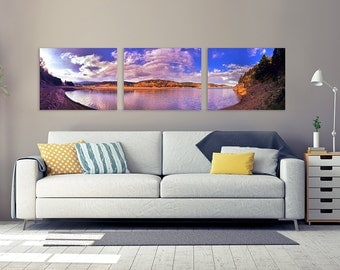 Landscape Triptych Wall Art Gallery Quality Paper Print, Landscape Photography, Landscape Panoramic, Three Piece Wall Art, 3 Piece Print