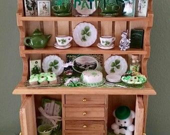 Dollhouse St. Patrick's Day Hutch