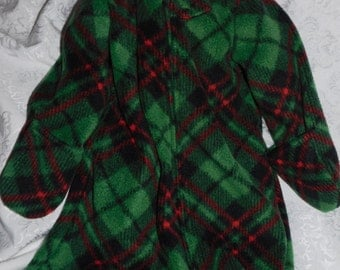 BABY SLEEP SACK - with or without mittens - plaid fleece - available in S,M,L or X-Large