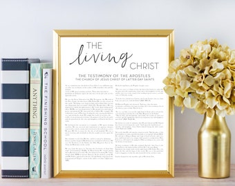 LDS The Living Christ Digital Print, Printable File, Digital Print file, Mormon, Living Christ, The Living Christ, Christ, Printable
