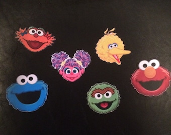 Sesame Street Cup Cake Toppers- we can do any characters