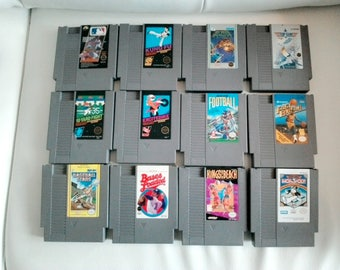 Vintage 1980'S NES Lot various title Video Game for the Original Nintendo Ent System Baseball- King of the beach- Kung Fu - Top gun and more