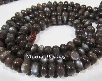 Best Quality Rondelle Faceted Chocolate Moonstone Beads , 6-7mm Size Natural Chocolate Moonstone , Length 7 inches long , Gemstone Beads.