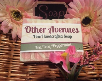 Tea Tree/Peppermint Soap (3 for 20.00 / Free Shipping and Handling) handmade handcrafted