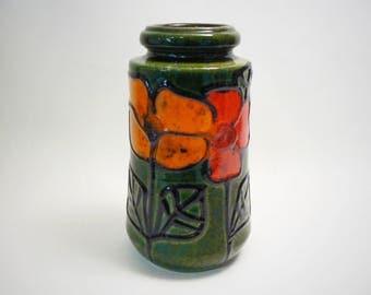 Vintage West germany Mid Century Seventies Retro Scheurich vase 549-21