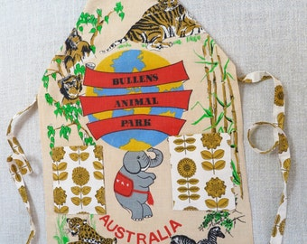 Apron, Kitchen apron, Animal apron, One of a kind apron, Linen apron, African animal apron, Australian apron, Made in Melbourne apron