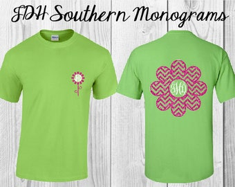 Womens Flower Monogram Shirt