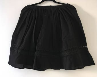 Mexican Black Short Skirt