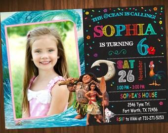 Moana Invitation, Moana Birthday Party