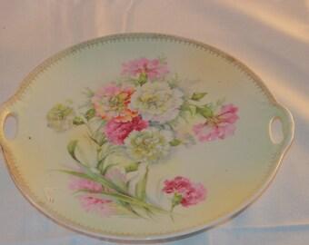 Antique German Oval Platter