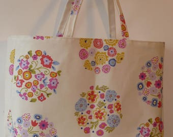 Large shopping bag, bag for life,handmade in quality fabrics