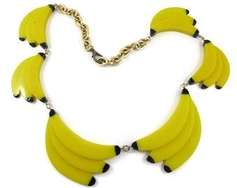 "Harlequin Market / HQM Acrylic ""Pop Art"" Banana Necklace"