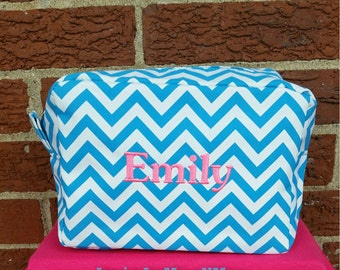 Monogrammed Cosmetic Bag-Personalized Make Up Bag-Bridesmaids Gifts
