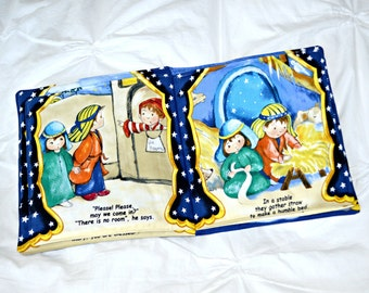 Christmas Story Soft Book: A Fabric Story Gift for Christian Catholic Kids