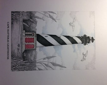 Cape Hatteras Lighthouse Drawing