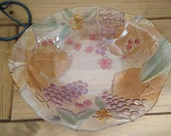Glass Fruit Bowl, Large Fruit Bowl, Large Glass Bowl, Decorative Bowl, Glass Bowl, Bowl, Crystal Bowl, Mikasa, Coloured Glass, Tableware