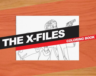 The X Files Inspired Colouring Book