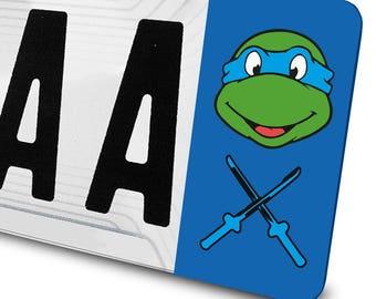 Sticker Leonardo (ninja turtle) for license plates