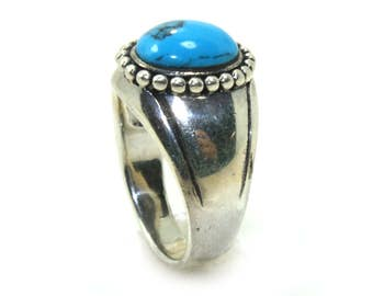 sterling silver ring, turquoise ring, Navajo Ring, Vintage gemstone ring, turquoise jewelry, southwestern ring, gemstone ring statement ring