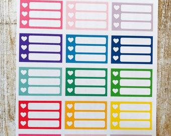Rainbow mini heart check boxes