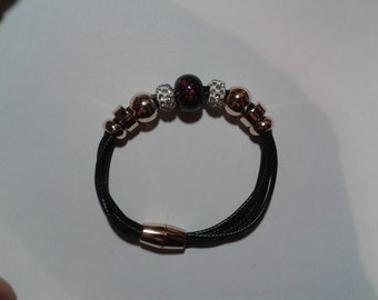 Black charms bracelet