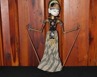 Vintage Indonesian Wooden Doll/Puppet
