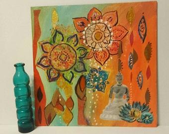 Buddha Art  - Mandala Art - Meditation Art - Reiki Art - Yoga Studio Decor - Spiritual - Healing - Wall Art - Yoga  Art - Zen Art