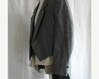 On Sale 1980's Siver Gray Sharkskin Tuxedo Tailcoat 43 R