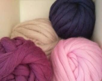 Super Chunky Coloured Merino Yarn - 500g