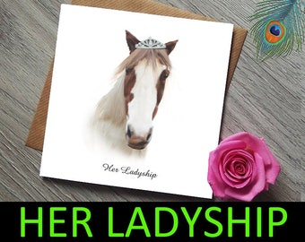 Daughter Birthday Card - Sister Birthday Card - Funny Card - Birthday Card funny - Birthday Card Girlfriend - Horse Card - Card for her