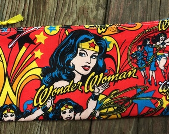 Back To School Wonder Woman Pencil Case and Coin Purse