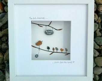 "Teacher gift. Unique, handmade, Irish pebble art. ""The best teachers...teach from the heart"""