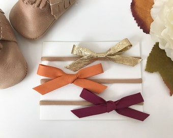 Autumn Hand Tied Bow Set
