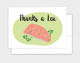 Thanks a Lox - Jewish Thank You Card