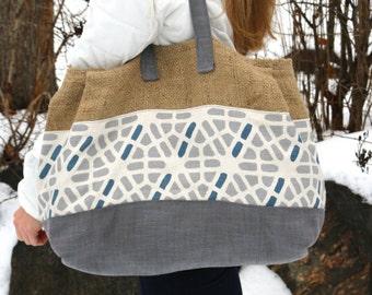 Canvas Tote Bag Pattern The Burley Tote Bag Pattern Large Burlap Bag Pattern