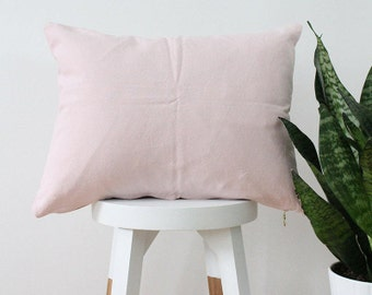SOLID THROW PILLOW - guava pink hand dyed throw pillow blush pink