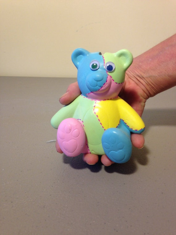 ceramic patchwork teddy bear bank child 39 s gift. Black Bedroom Furniture Sets. Home Design Ideas