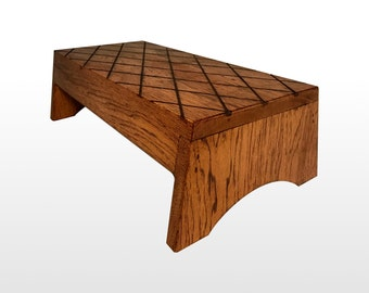 Step Stool by Candlewood Furniture Extra Long Rustic Wooden Wood Grandma  sc 1 st  Etsy & Bed step stool   Etsy islam-shia.org