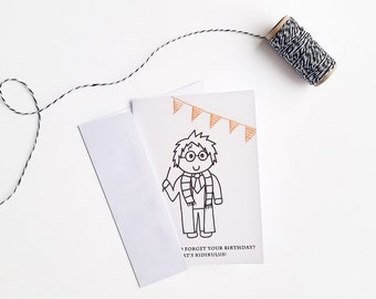 Harry Potter Birthday Card / Harry Potter Card / Nerdy Birthday Card / Late Birthday Card / Birthday Card / Cute Harry Potter Card