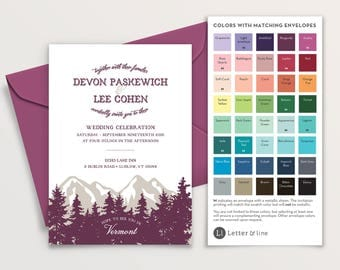 Sample: Vermont Woods Wedding Invitation Suite