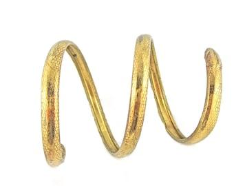 Brass Snake Arm Cuff