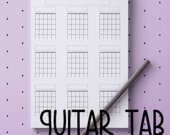 Printable guitar tablatures and chords