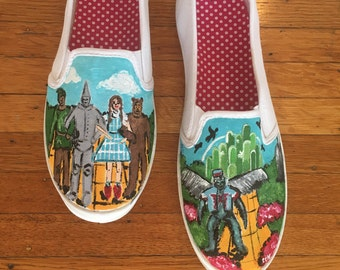Wizard of Oz Hand Painted Shoes - Flying Monkey Shoes - Ready to Ship - Unique Gift - Size 9