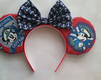 Captain Mickey Disney Cruise inspired ears headband