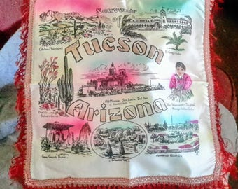 1950's Tucson souvenir pillow cover, in excellent condition
