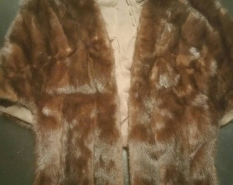 Mink Stole - Vintage Mink - Mahogany Mink Stole - Fur Wrap - Mink Wrap - Mink - Vintage Mink Stole - Bridal Wrap - Vintage Fur