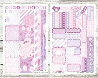 Pretty In Pink EC HORIZONTAL Planner Stickers