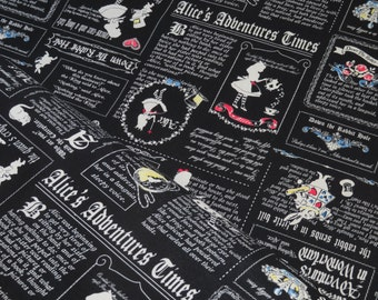1/2 yard Lecien Japan Girl's Story Alice Collection | # 40678L-100 Black