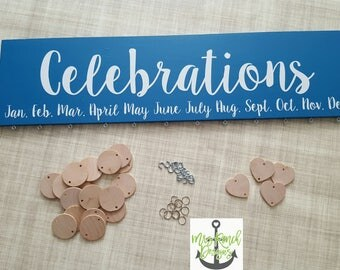 Family Celebration Board, Family Birthday Calendar, Family Celebration Sign, Perpetual Calendar, Wood Calendar