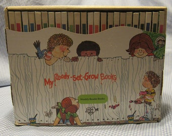 JOY WILT Ready-Set-Grow Series Weekly Reader Books Set of 24 Hard Back  Complete Set 1978 1979 and 1980 Really Nice Condition!